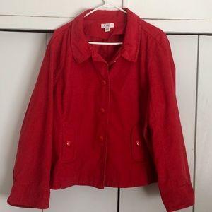 Red Corduroy Blazer sz 22-24.